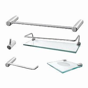 Acessórios de Banheiro Prateleira Proteção Luxo Slim 502LSB Grego Metal