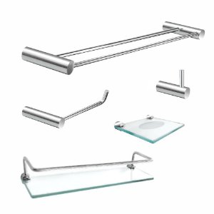 Kit Acessórios para Banheiro Prateleira com Proteção 5 Peças Luxo Plus 506LP