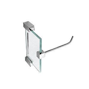 Porta Papel Higiênico de Vidro Exclusive 704EXA Grego Metal