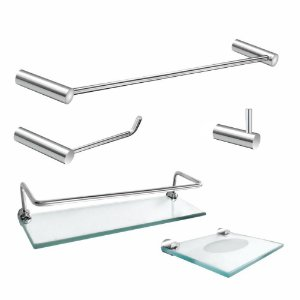 Kit Acessórios para Banheiro 5 Peças Luxo Slim 502LS Grego