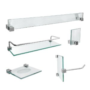 Acessórios Banheiro em Vidro com Prateleira 421VT Vitralle
