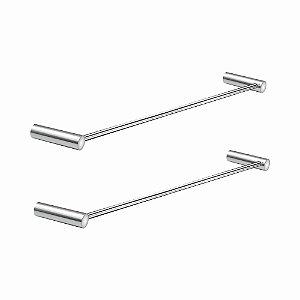 Porta Toalhas de Banho Kit 2 Peças Slim 510LS2 Grego Metal