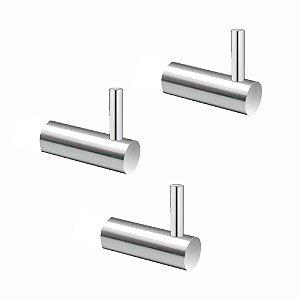 Cabide em Metal (Kit 3 Peças) Luxo Slim 512LS3 Grego Metal