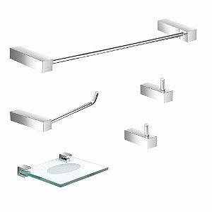 Kit Acessórios para Banheiro 5 Peças Prátika 825PK Grego
