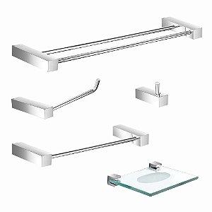 Kit Acessórios para Banheiro Prátika 800PK Grego