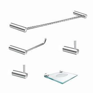 Kit Acessórios para Banheiro 5 Peças Luxo Slim 525LS Grego