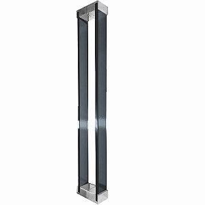 Puxador Para Portas em Vidro Fumê Polido Retrô 110RTFP