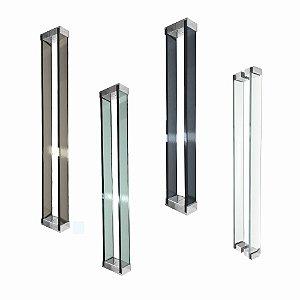 Puxador de Vidro Para Portas Madeira/Vidro 110RT2 Retrô