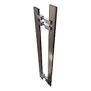 Puxador de Portas Vidro Bronze Alto Padrão Vitrô 903VTB