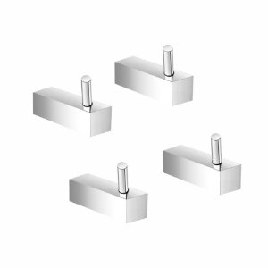 Cabide Suporte Metal Kit 4 Peças Prátika 807PK4 Grego Metal