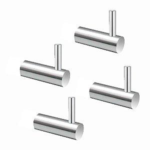 Cabide em Metal (Kit 4 Peças) Luxo Slim 512LS4 Grego Metal