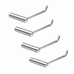 Porta Papel Higiênico Metal Kit (4 Peças) Luxo Slim 511LS4