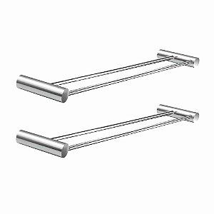 Porta Toalhas Duplo 40 cm (Kit 2 Peças) Luxo 529LP2 Plus