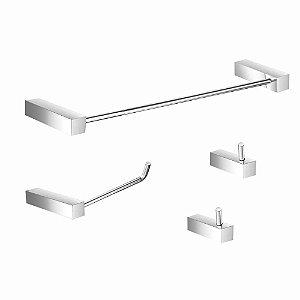 Kit Acessórios para Banheiro Metal Prátika 827PK Grego Metal