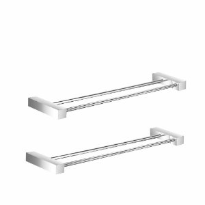 Porta Toalha Duplo 40cm Metal (Kit 2 Peças) Prátika 823PK2