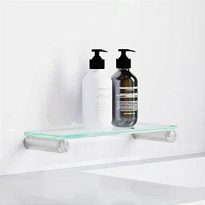 Porta Shampoo Aço inox Escovado Alto Padrão 116DX Decaluxo