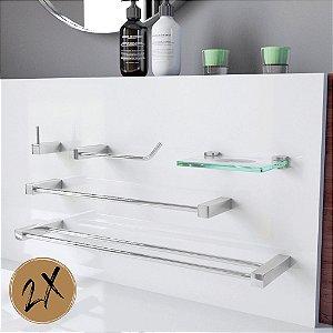 Acessórios Para Banheiro 2 Kits (10 Peças) 800PK2 Prátika