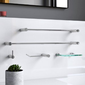 Kit Para Banheiro Metal 5 Peças Luxo Slim 500LSA Grego