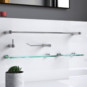 Kit Para Banheiro com Prateleira 5 Peças Luxo Slim 501LSA