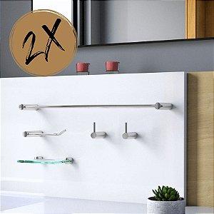 Kit Acessórios Para Banheiro (2 Kits) 10 Peças Slim 525LS2