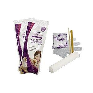 Kit Manicure com creme, lixa, palito e toalha - 50 unid.