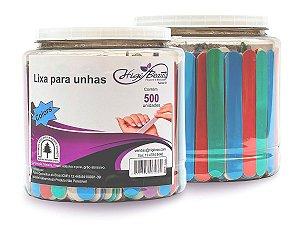 Lixa de Unha - Colorida - 500 Unidades