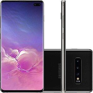 """Smartphone Samsung Galaxy S10+ PLUS 128GB Dual Chip Android 9.0 Tela 6.4"""" Octa-Core 4G Câmera Tripla Traseira 12MP + 12MP + 16MP - Preto"""