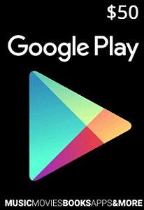 Google Play Gift Card $50 Dólares para Android - Envio imediato