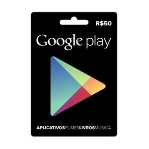 Gift Card Digital Google Play R$ 50 Recarga