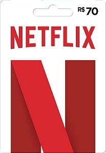 Gift Card Digital - Cartão Presente Netflix R$ 70