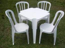 Locação de Mesa C/ 4 Cadeiras