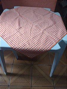 Locação de Cobre Mancha xadrez Laranja 70x70cm