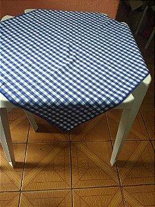 Locação de Cobre Mancha xadrez Azul 70x70cm