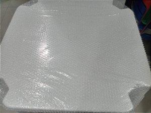 kit com 5 Mesa 70x70 Monobloco de Plástico Empilháveis Branca