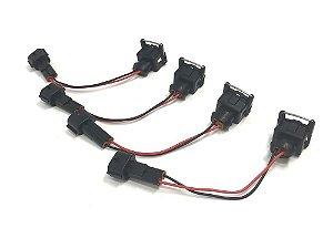 4x Chicote adaptador Injetores Bosch EV1 em VW/AUDI - Moreboost