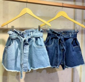 Short Clochard - Jeans Claro