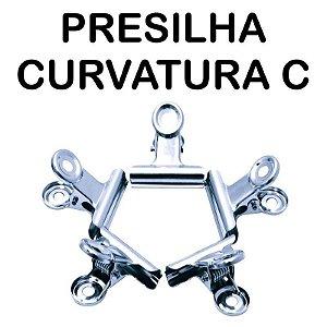 PRESILHA CURVATURA C/ 5 UNIDADES