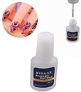 Cola Para Unha Com Pincel Mirage Brush- Nail Glue