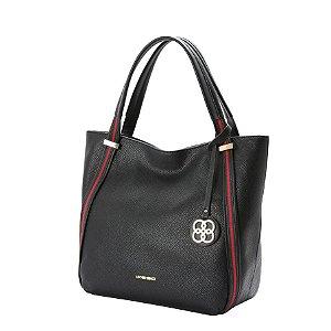 5eabfe95fb72 Bolsa Feminina Chenson Padrão Itália Preta Grande zoom