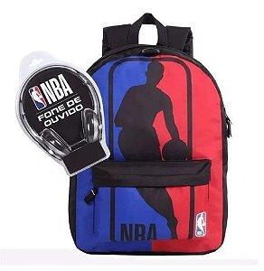 Mochila NBA + fone de brinde