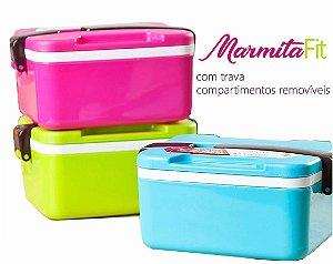 Marmita Marmitex Lunch Box 3 Cores Disponíveis Duplo Fecho