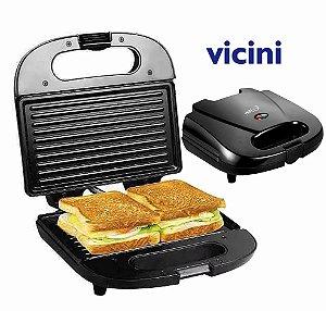Sanduicheira E Grill Elétrica Vicini Epv-816b 220 V