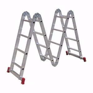 Escada Dobrável Multi Uso 3.39m 12 Degraus 4 X 3 Alumínio