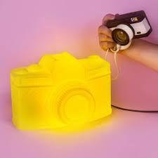 Luminária-Câmera-Bivolt-Amarela