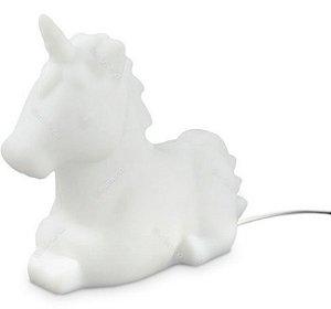 Luminária Unicórnio Bivolt Branca