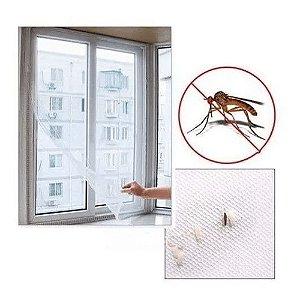 Tela Mosquiteira Janela Anti-inseto Mosquito 130x150 E Fita