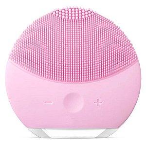 Esponja Elétrica Para Limpeza Facial Esponja Massageadora Portátil Recarregável Rosa