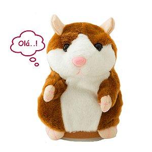 Hamster Falante Repete Qualquer Som Pelúcia Interativa