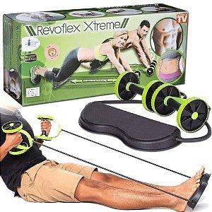 Kit Musculação Fitness Completo Academia Em Casa Revoflex Elastico Roda Abdominal Extensor Para Braço
