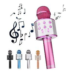 Microfone Portátil De Karaokê Sem Fio Portátil Varias Cores